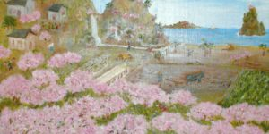 Цветущий персиковый сад